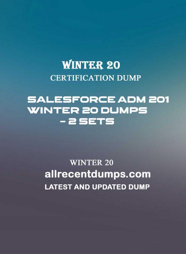 Salesforce Adm 201 Winter 20 Dumps – WI20 Dumps