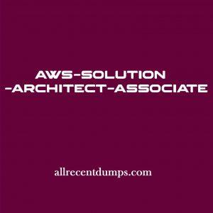 AWS Solution Architect Associate Dumps